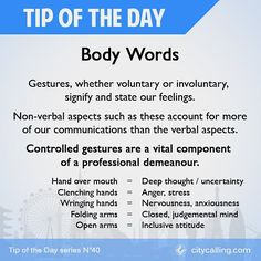 We're getting deep on body language this week - today is GESTURES #TipOfTheDay  #job #jobs #jobinterview #work #jobhunting #jobinterview #interview #jobapplication #newjob #inspiration #inspirational #careerpath #careers #career #callback #needajob #unemp