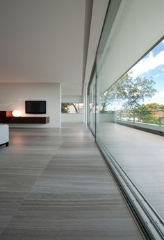 minimal sliding glazing