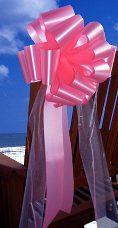 Azalea Pink Pull Bows with Tulle Tails - 9' Wide, Set of 6 ** Check out the image by visiting the link.