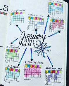 Goals tracker monthly. Like the pattern fill, more monochrome or two color?