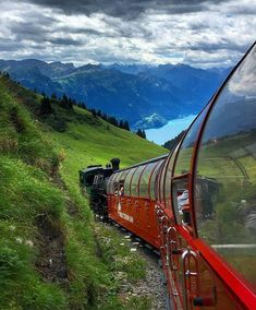Brienz Rothorn train is a tourist steam train near Interlaken in Switzerland. It chugs, steams and screeches on its climb from Lake Brienz… Places To Travel, Travel Destinations, Places To Visit, Switzerland Destinations, Destination Voyage, Zermatt, Train Journey, Beautiful Places In The World, Wonderful Places