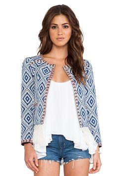 Tularosa Santa Fe Fringe Jacket in Multi//