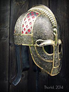 "paganroots:  Vendel helmet replica by ""Thorkil"" Grzegorz Kulig"