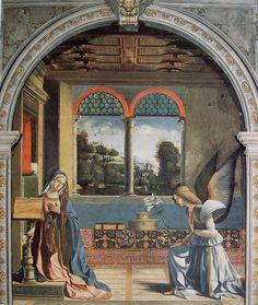 ANDREA PREVITALI -  EL CORDELIAGHI LA ANUNCIACION DE MESCHIO 1508