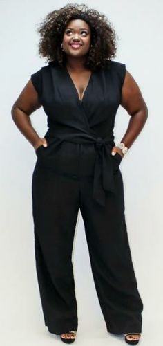 I just love this, Plus Size girls can rock jumpsuits too!
