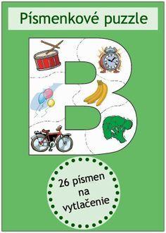 Písmenkové puzzle   Neposedné nožnice Montessori Activities, Preschool Worksheets, Pre Writing, Writing Skills, Numbers For Kids, Primary Teaching, Indoor Activities For Kids, Gross Motor Skills, Toddler Preschool
