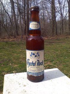 Vtg 1950's Cleveland Sandusky Brewing Crystal Rock Beer Bottle W/ Tax Cap