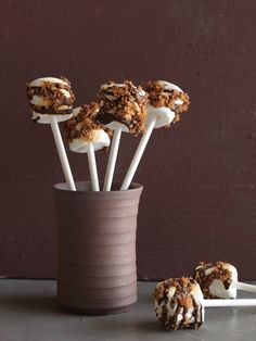 Marshmallow S'mores Pops