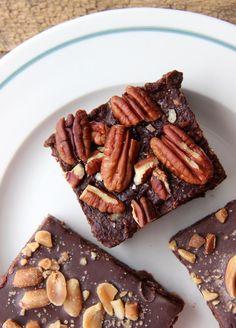 Peanut Fudge Slice & Fudgey Brownie