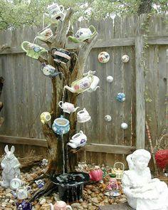 Alice in Wonderland themed Teapot water fountain!