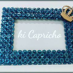 Button Art, Button Crafts, Frame Crafts, Diy Frame, Easy Diy Crafts, Diy Craft Projects, Foto Frame, Homemade Pictures, Jewelry Frames