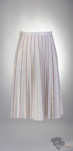 Vintage 60´s pleated wrap midi skirt