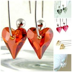Swarovski Crystal Wild Heart Earrings You Choose Color. Starting at $9 on Tophatter.com!