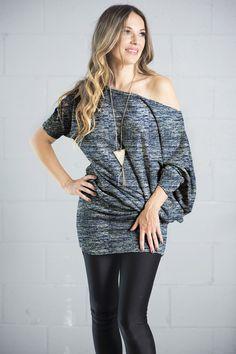 HILARY - HEATHER BLUE Off Shoulder Blouse, Blue, Tops, Design, Women, Fashion, Moda, Women's, La Mode