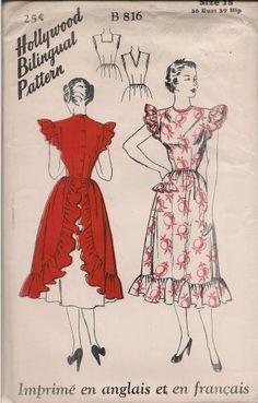 Super frilly Hollywood vintage pattern