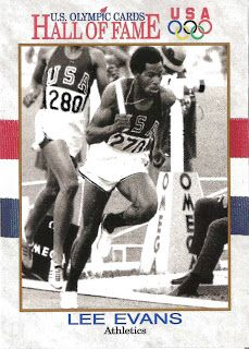 Lee Evans Track and Field | Note: As much as possible, the images used in the Hall of Fame series ... OS guld 400 meter 1968 Mexico City.
