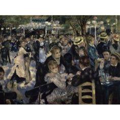 Ball at the Moulin de la Galette Montmartre 1876 Pierre-Auguste Renoir (1841-1919French) Musee dOrsay Paris Canvas Art - (18 x 24)