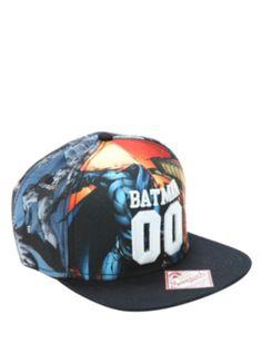 DC Comics Batman Sublimation Panels Snapback Hat 0b1867f5ab01