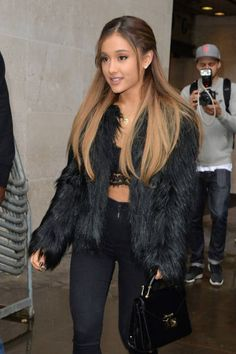 Ariana Grande — all black everything.