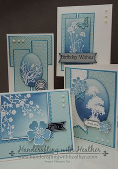 Serene Silhouettes Stamp-a-Stack from Stampin' Up! Heather Van Looy, Independent Stampin' Up! Demonstrator in Johns Creek, GA. Follow my blog for more great projects (www.handcraftingwithheather.com).