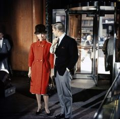 """"""" Audrey Hepburn and George Peppard in the 1961 film Breakfast at Tiffany's. """""""