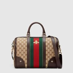 Gucci Vintage Web embroidered bag with bee.