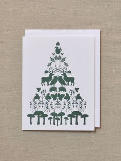 Banquet Tree of Animals holiday card.