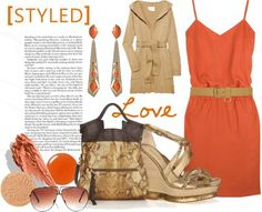 Tangerine and metallic hues! We love.