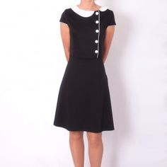 Little black dress - Black and white dress - Retro dress - Waist cut dress - Dresses2Kill