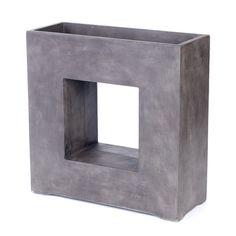 Bak vierkant venster 68x27x68cm lederlook