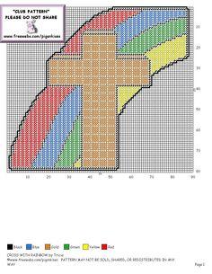cross with rainbow 2/2
