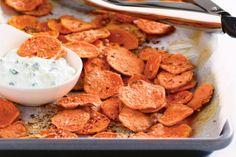 Mmmm sweet potato chips !