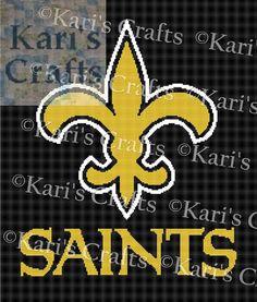 Saints Fleur-De-Lis Logo Afghan PDF Pattern GRAPH by KarisCrafts