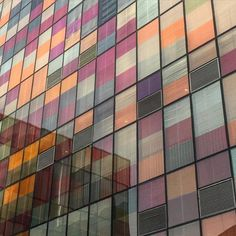 """Harlequin facade  #beijing #village #uniqlo #china #inspiration #persiane #walkingaround #glass #colorful"""