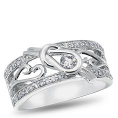 Love Knot, 14K White Gold Exclusive Design Diamond Band, 3/8 ctw. - Listing price: $2,429.00 Now: $920.62