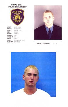 Marshall Mathers, III (aka Eminem) arrested twice in 2000 for carrying a concealed weapon.