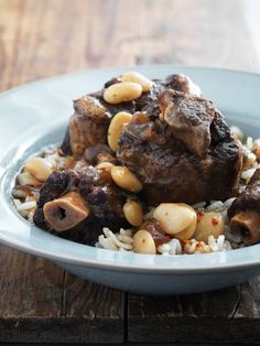 Oxtail and Beans served with White Rice