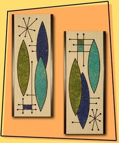 Late 50's to mid 60's Gravel Art  wall designs...you could buy kits and make your own even in the colors you wanted.