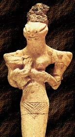 """Nammu is the Sumerian Creatrix Goddess. Her name is usually written with the sign engur, which is also used to write Apsu. She personifies the Apsu, or the sweet fertile waters, as the source of water and hence fertility. God-lists and other texts describe Her as """"The Mother who gave birth to Heaven and Earth"""", """"Mother, first One, who gave birth to the gods of the universe"""", or """"Mother of Everything"""". She is a goddess without a spouse, the self-procreating womb of the universe, the primal…"""