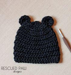 FREE Bear Crochet Hat Pattern { 3 MONTHS }