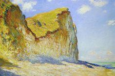 """""""Cliffs near Pourville"""" ・ by Claude Monet ・ Completion Date: 1882 ・  Style: Impressionism ・ Genre: landscape"""