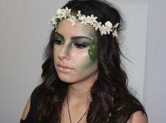 Mother Nature/ Nymph Halloween Makeup Tutorial | Halloween makeup ...