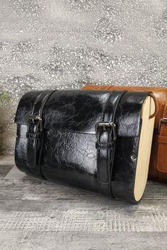 Τσαντάκι με ξύλινα στοιχεία 'Woods' Μαύρο Womens Purses, Messenger Bag, Satchel, Wood, Bags, Fashion, Handbags, Moda, Woodwind Instrument
