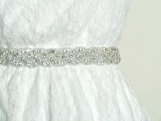 Check out LoveItSoMuch.com to discover unique products like NEW - PETITE DEANNA - Beaded crystal sash, bridal sash, wedding belt, crystal headband.