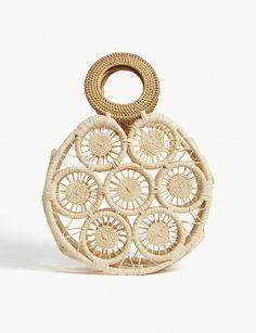 CULT GAIA. Stella circle straw bag. Selfridges