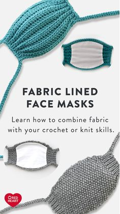 Free Knitting Pattern for Easy Hair Scrunchie for Stash or Leftover Yarn Crochet Mask, Crochet Faces, Knit Or Crochet, Free Crochet, Knitting Patterns Free, Free Knitting, Crochet Patterns, Doll Patterns, Diy Mask