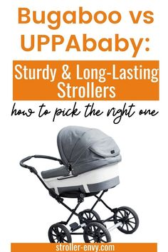 A stroller is probably just about the most expensive item of baby gear that you'll ever purchase, and it's certainly not something you will want to buy twice. But with such a huge range of strollers available to choose from, how can you be sure you've picked the right one? Let's take a look at the Bugaboo and UPPAbaby. #momlife