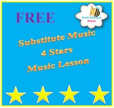 Click now to download your Free Substitute Music lesson plans even a non music sub will love! Free! Free! Free!