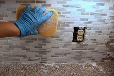 Coastal Inspired DIY Tile Backsplash Tutorial (anyone can do! Diy Tile Backsplash, Vinyl Wood Planks, It's Easy, Coastal, Artsy, Inspired, Diy Tiles, Deco, House