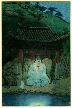 hanga gallery . . . torii gallery: White Buddha, Korea by Elizabeth Keith